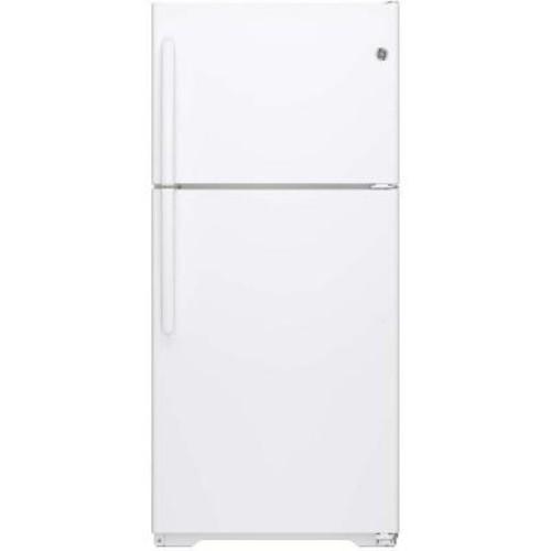 GE 18.2 cu. ft. Top Freezer Refrigerator in White