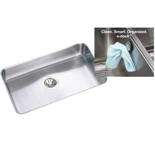 Elkay ELUH2816EK Gourmet Lustertone Stainless Steel Single Bowl Undermount Sink Kit