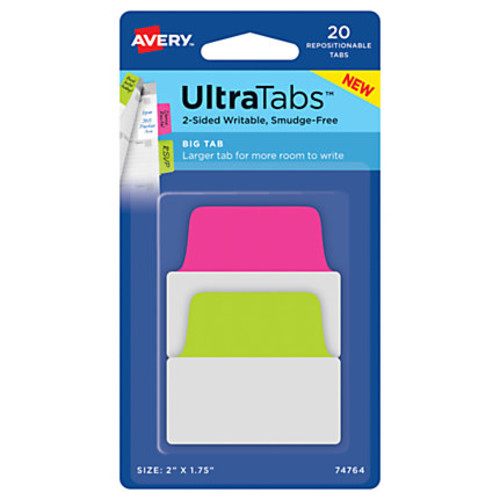 Avery Ultra Tabs Repositionable Tabs, Big, 2