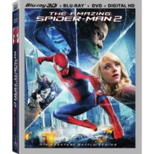 The Amazing Spider-Man 2 (Includes Digital Copy) (Ultraviolet) (3D) (Blu-ray/DVD) (W)