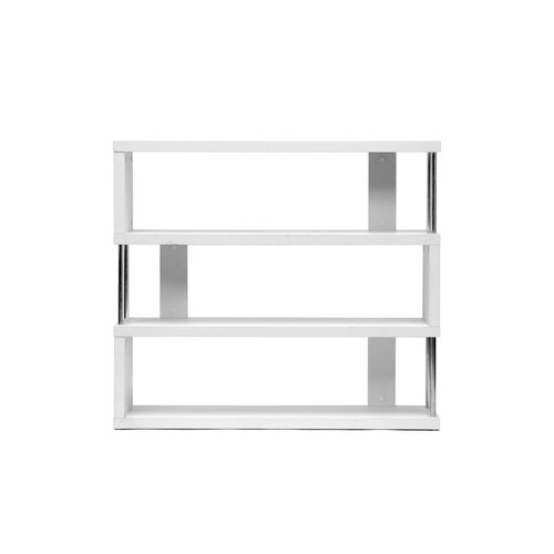 Baxton Studio Barnes White Three-Shelf Modern Bookcase