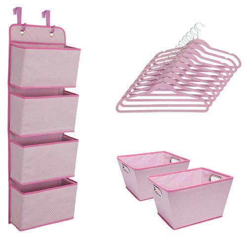 Delta Children 13 Piece Nursery Organization Set - Barely Pink