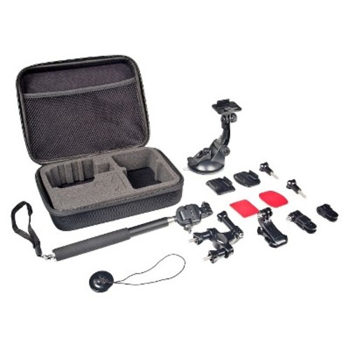 Bower Xtreme Action Series 6-in-1 Sports Bundle Camcorder Accessory Kit for GoPro - Black (XAS-ASB1)