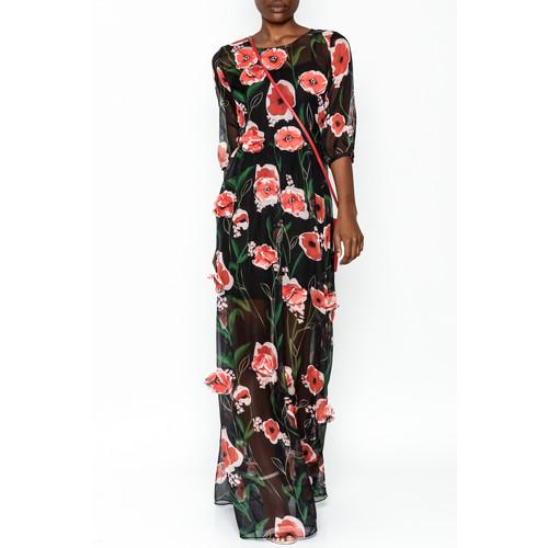 Embellished Mesh Maxi Dress