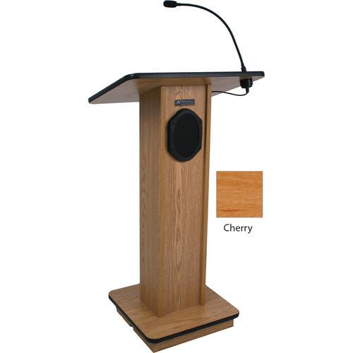 Elegant Wood Elite Lectern with Sound System (Cherry)