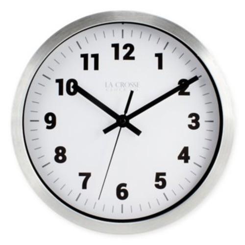 La Crosse Technology Analog Circular Wall Clock in Silver