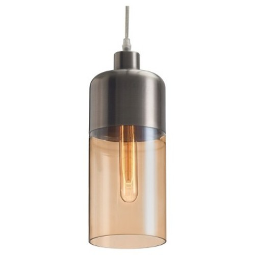 ZUO Vente 13.6 in. Satin and Amber Ceiling Lamp