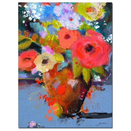 Trademark Fine Art Sheila Golden 'Bouquet for Monica' Canvas Art 35x47 Inches