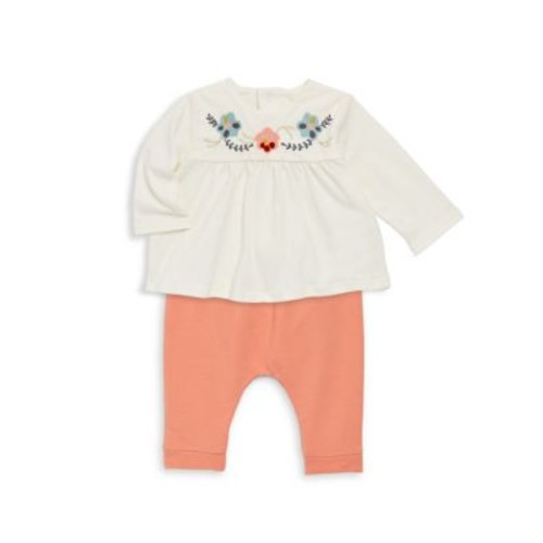 Baby's Two-Piece Embroidered Top & Stretch Pants