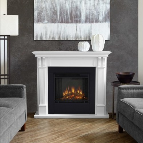 Real Flame Ashley 48 in. Electric Fireplace in White