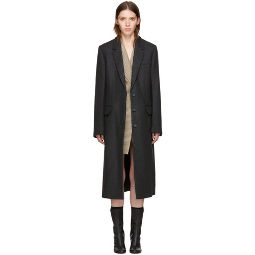 STELLA MCCARTNEY Grey Wool Harper Coat