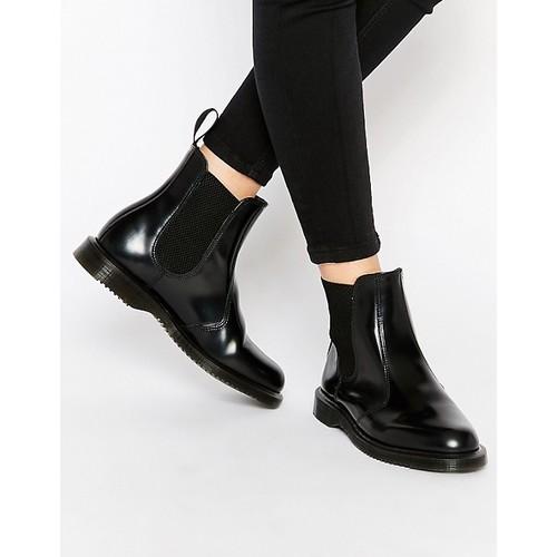 Dr Martens Kensington Flora Black Chelsea Boots
