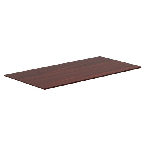 Lorell Electric Height-Adjustable Mahogany Knife Edge Tabletop - Rectangle Top - 48