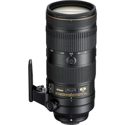 Nikon - AF-S NIKKOR 70-200mm f/2.8E FL ED VR Telephoto Zoom Lens for Nikon DSLR Cameras - Black