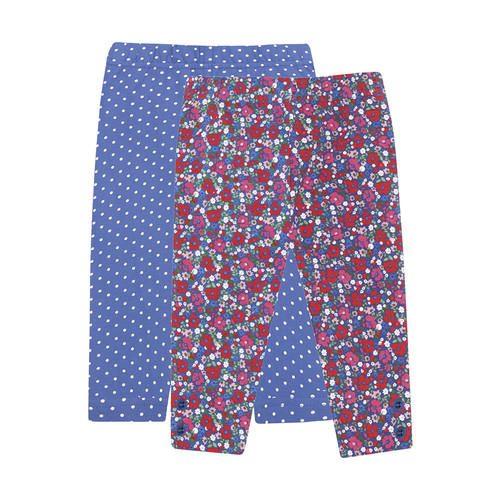 Dot and Floral Leggings (2 Pack) by JoJo Maman Bb