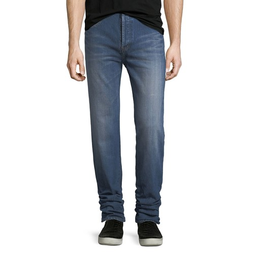SAINT LAURENT Slim Dirty Dark Vintage-Wash Jeans