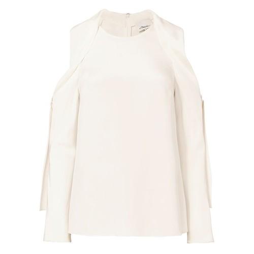3.1 PHILLIP LIM Silk Cold Shoulder Top