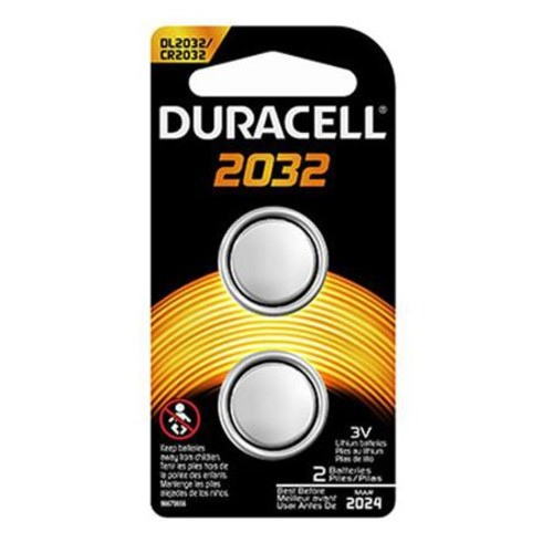Duracell CR2032 Coin Cell Lithium Home Medical Battery, 3 Volt (2-pack)