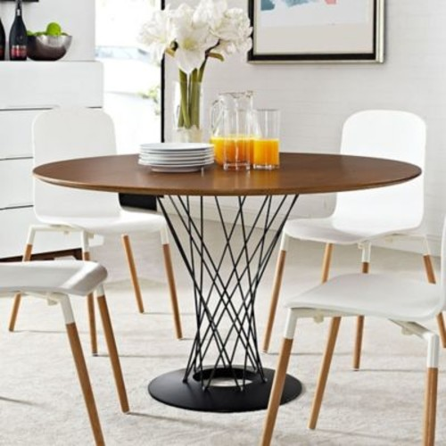 Modway Cyclone Wood Top Round Dining Table