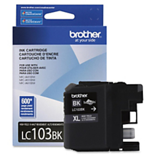 Brother LC103BK Innobella High Yield Black Ink Cartridge [Inkjet - 600 page yield]