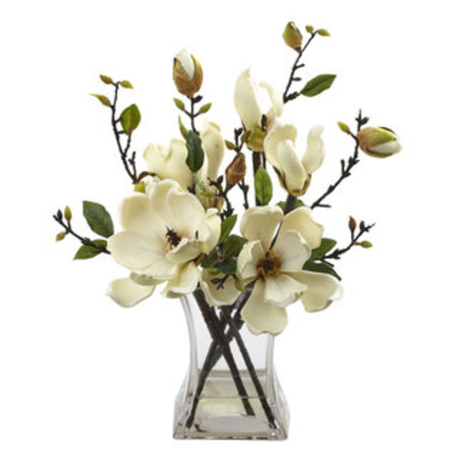 Nearly Natural Artificial Plants Cymbidium Orchid with Vase