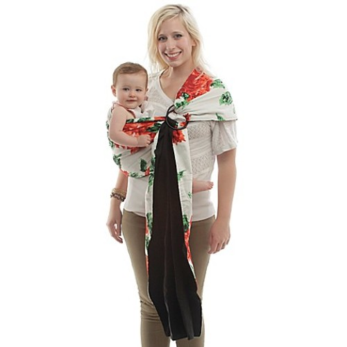 Rockin' Baby One Rose Sling Baby Carrier in Red/Green