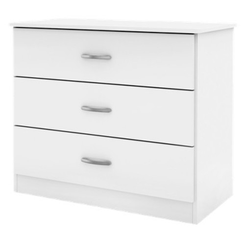 Simply Basics 3 Drawer Dresser White - South Shore