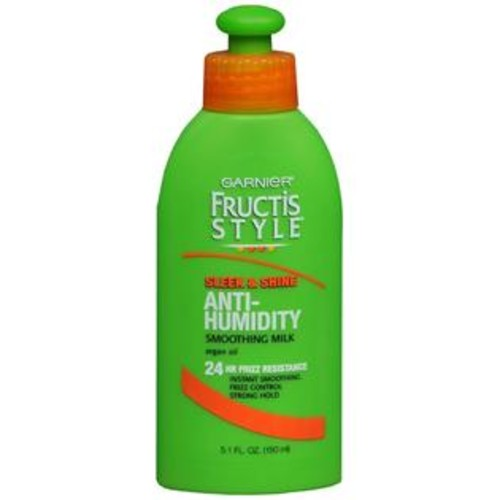 Garnier Fructis Style Sleek & Shine Anti-Humidity Smoothing Milk Strong Hold, 5.1 OZ