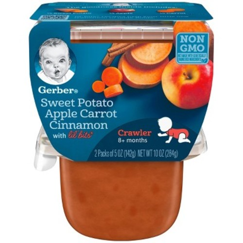 Gerber 3rd Foods Sweet Potato Apple Carrots & Cinnamon 2 - 5oz Packs