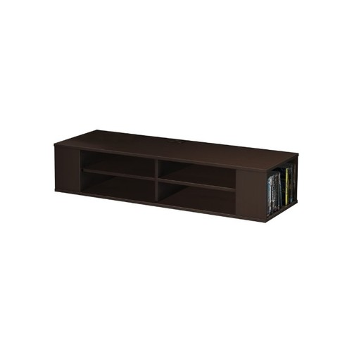 South Shore City Life Wall Mounted Media Console Shelf, Chocolate