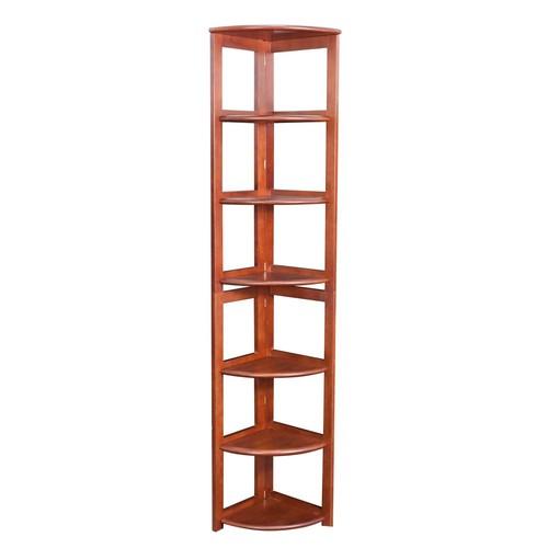 Niche Flip Flop Cherry 6-Shelf Corner Folding Bookcase