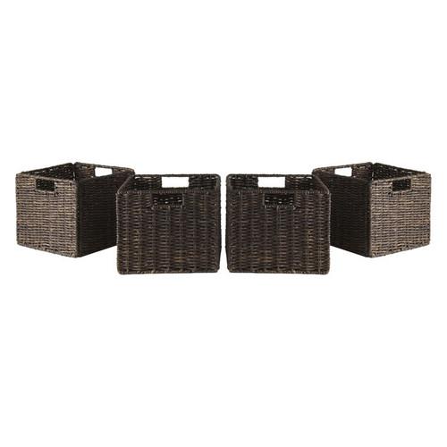 Winsome Wood Granville Foldable 4-pc Corn Husk Baskets