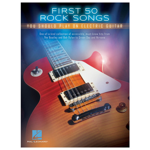 Hal Leonard - First 50 Rock Songs You Should Play on Electric Guitar Songbook - Multi
