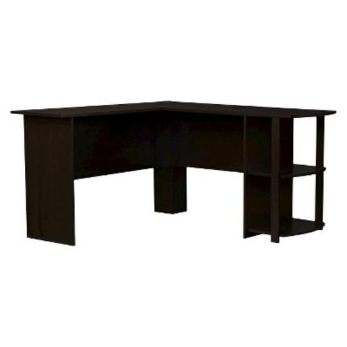 Fieldstone L-Shaped Desk with Bookshelves - Espresso - Room & Joy