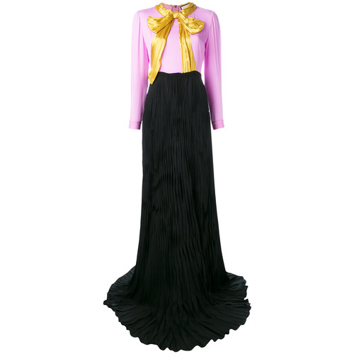 GUCCI Bow Printed Maxi Dress