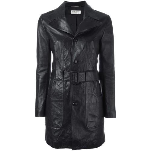 SAINT LAURENT 70'S Short Leather Coat