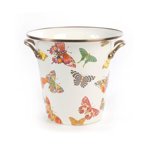 White Butterfly Garden Wine Cooler