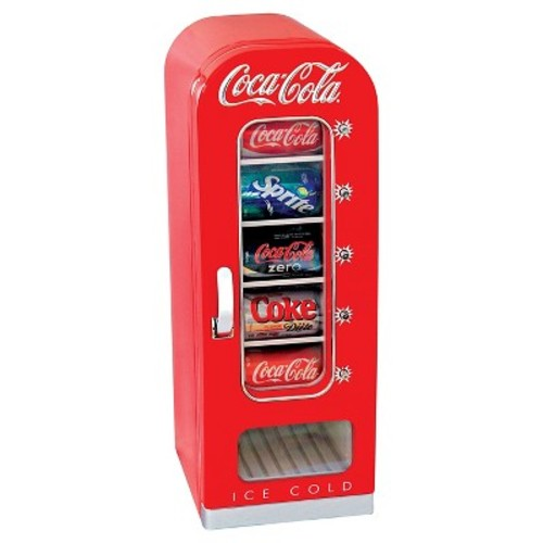 Coca Cola 10 Can Retro Vending Cooler - Red CVF18