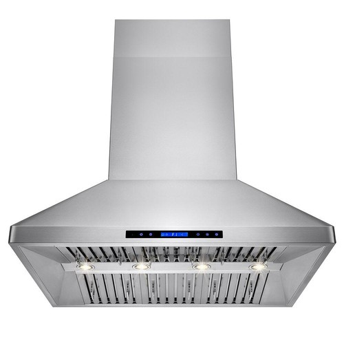 AKDY 48 in. Dual Motor Kitchen Wall Mount Range Hood in Stainless Steel with Remote and Touch Control