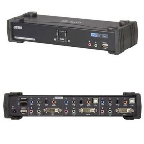 Aten CubiQ CS1782A KVM Switch. 2PORT DUAL LINK USB DVI CS1782A KVM 2X CUSTOM DVI-D KVM CABLE KVM-SW. 2 Port