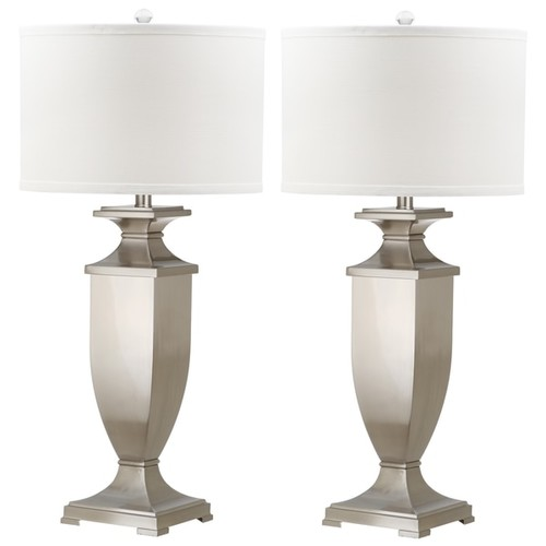Safavieh Lighting 31.5-inch Ambler Nickel Table Lamp (Set of 2)