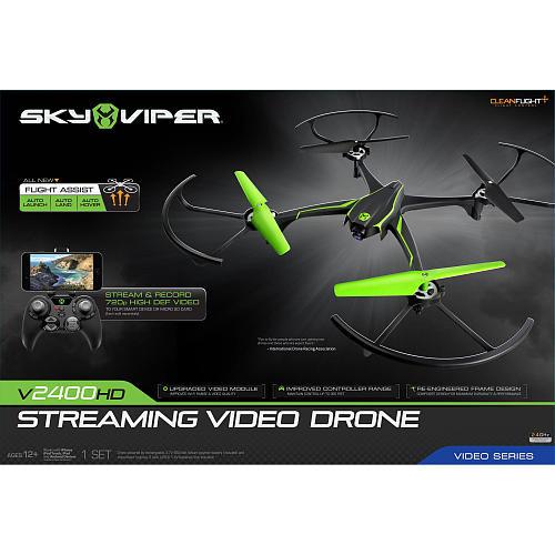 Sky Viper v2400 HD Streaming Video Drone- 2.4 GHz Green/Black