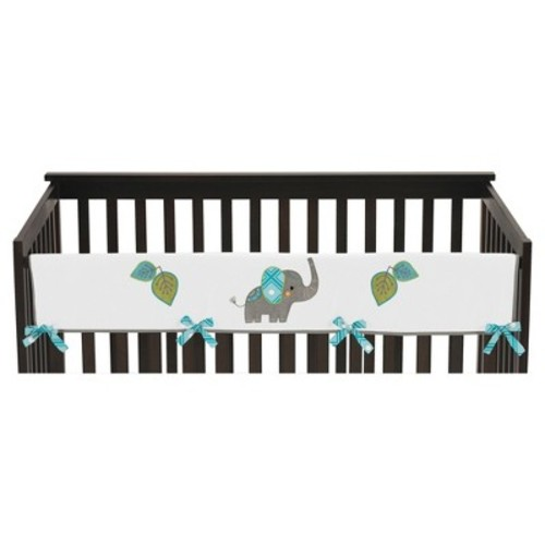 Sweet Jojo Designs Long Crib Rail Guard Cover - Mod Elephant