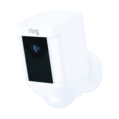 Ring Wi-Fi Security Battery Operated Spotlight Camera White