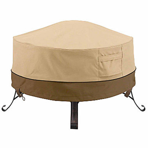 Classic Accessories Veranda Round Full Coverage Fire Pit Cover Large