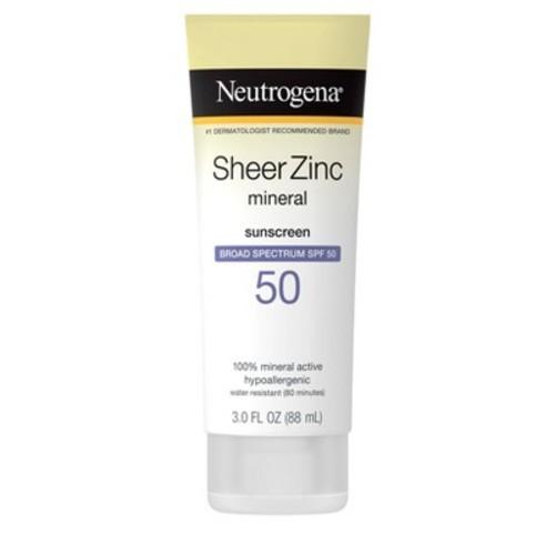 Neutrogena Sheer Zinc Sunscreen Lotion - SPF 50 - 3oz