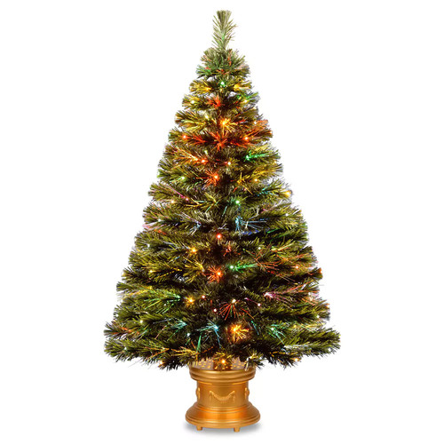 National Tree Company 4-ft. Fiber Optic Artificial Christmas Tree with Ornate Stand Floor Decor