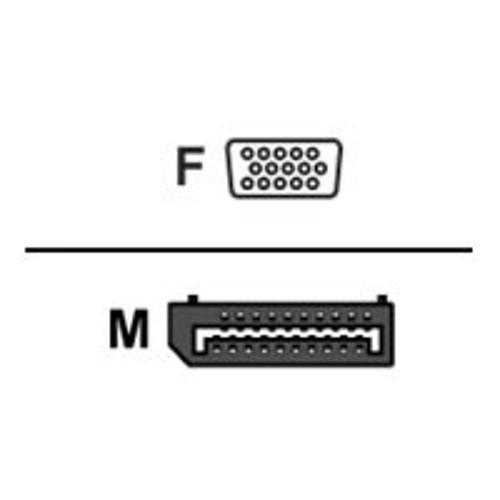 Dell Mini DisplayPort to VGA Adapter - Display adapter - Mini DisplayPort (M) to HD-15