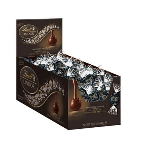 Lindt Lindor Truffles 60% Extra Dark Chocolate, 120 Count