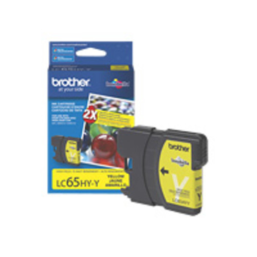 Brother LC65HYY Brother High Yield Yellow Ink Cartridge - Yellow - Inkjet - 750 Page - 1 Each